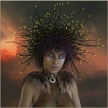 Prae-Bramble Crown For G3 G8 Daz image 4