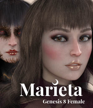 Marieta for Genesis 8 Female 3D Figure Assets ColorGaleria