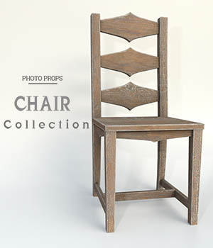 Photo Props: Chair Collection 3D Models ShaaraMuse3D