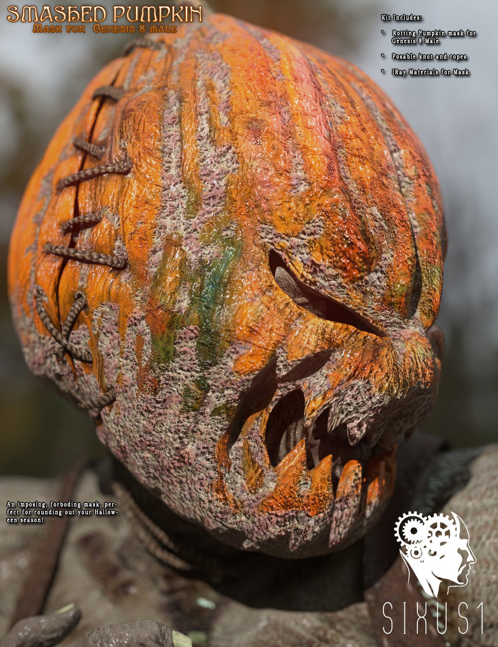Smashed Pumpkin for Genesis 8 Male
