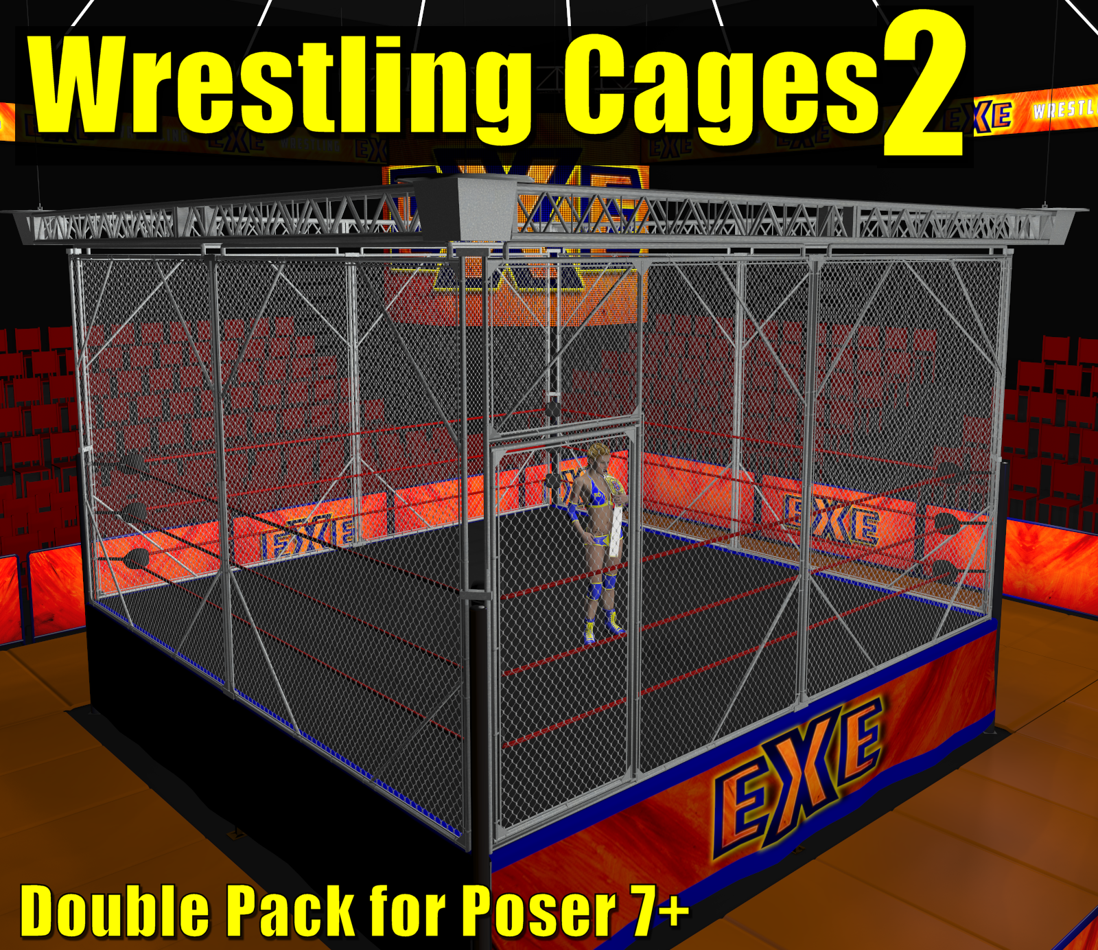Cages 2 for Dex's Wrestling Set (poser 7+) by DexPac