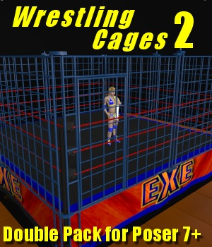 Cages 2 for Dex's Wrestling Set (poser 7+) 3D Models DexPac