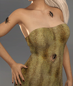 Halloween Cockroach Dress for Genesis 8 Female -dForce 3D Figure Assets 3D Models Karth