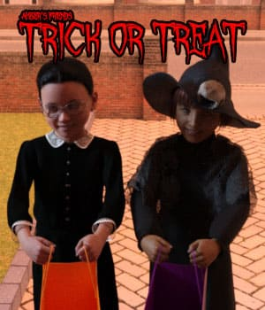 Amber's Friends Trick or Treat 3D Figure Assets AliveSheCried