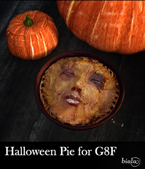 Halloween Pie for G8F 3D Figure Assets biala