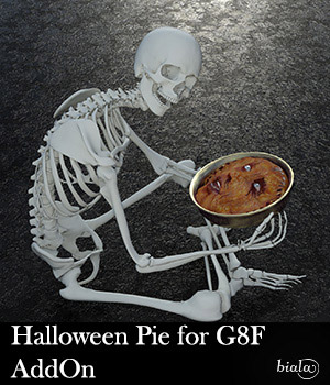 Halloween Pie for G8F Addon 3D Figure Assets biala