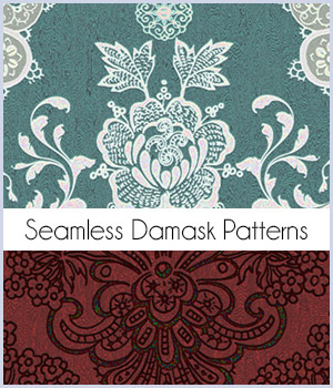 Seamless Damask Patterns 2D Graphics Merchant Resources antje