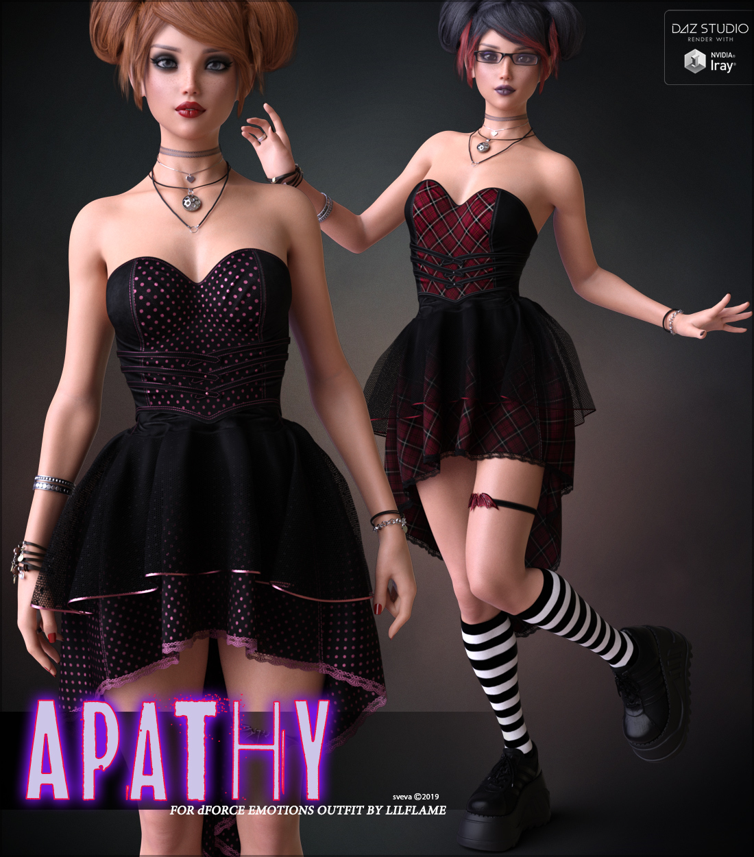 Apathy for dForce Emotions Outfit G8F by Sveva