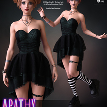 Apathy for dForce Emotions Outfit G8F image 1