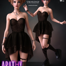 Apathy for dForce Emotions Outfit G8F image 2