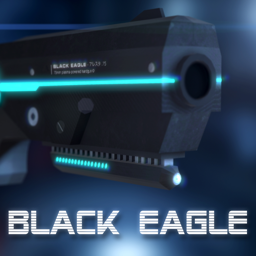 Sci-Fi Gun Black Eagle - Extended License by TunnelVision