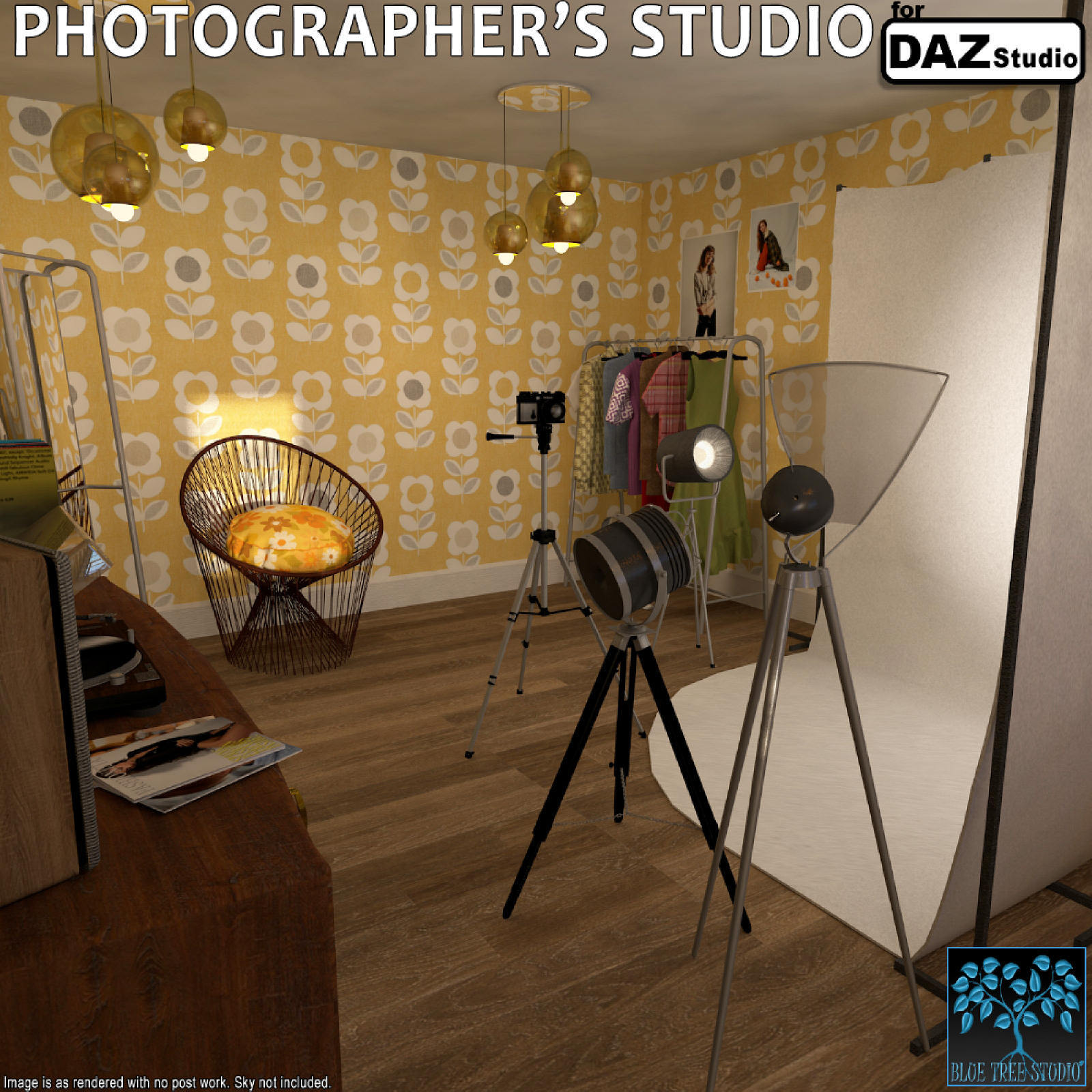 Photographer's Studio for DAZ Studio by BlueTreeStudio