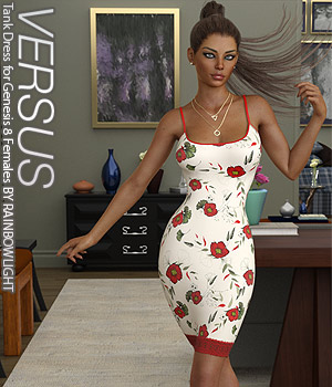 VERSUS - Tank Dress for Genesis 8 Females 3D Figure Assets Anagord
