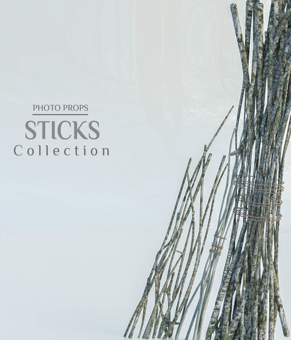 Photo Props: Stick Collection by ShaaraMuse3D