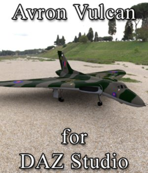 Avro Vulcan for DAZ Studio 3D Models Digimation_ModelBank