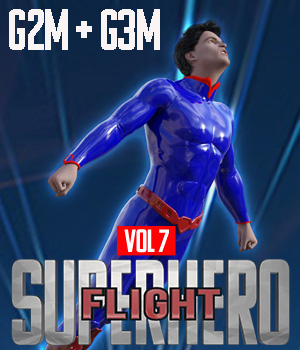 SuperHero Flight for G2M and G3M Volume 7 3D Figure Assets GriffinFX