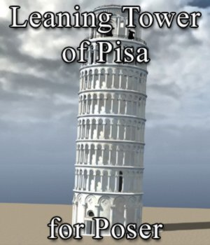 Leaning Tower of Pisa for Poser 3D Models Digimation_ModelBank