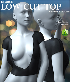 dForce Low Cut Top for Genesis 8 Female 3D Figure Assets Imaginary3D