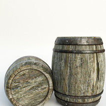 Photo Props: Wooden Barrels - Extended License image 1