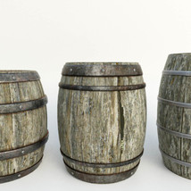 Photo Props: Wooden Barrels - Extended License image 3