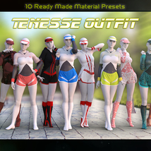 Tenesse Outfit For Genesis 8 Females image 4