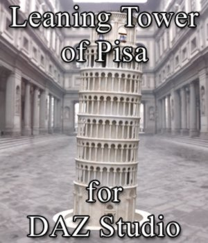 Leaning Tower of Pisa for DAZ Studio 3D Models Digimation_ModelBank