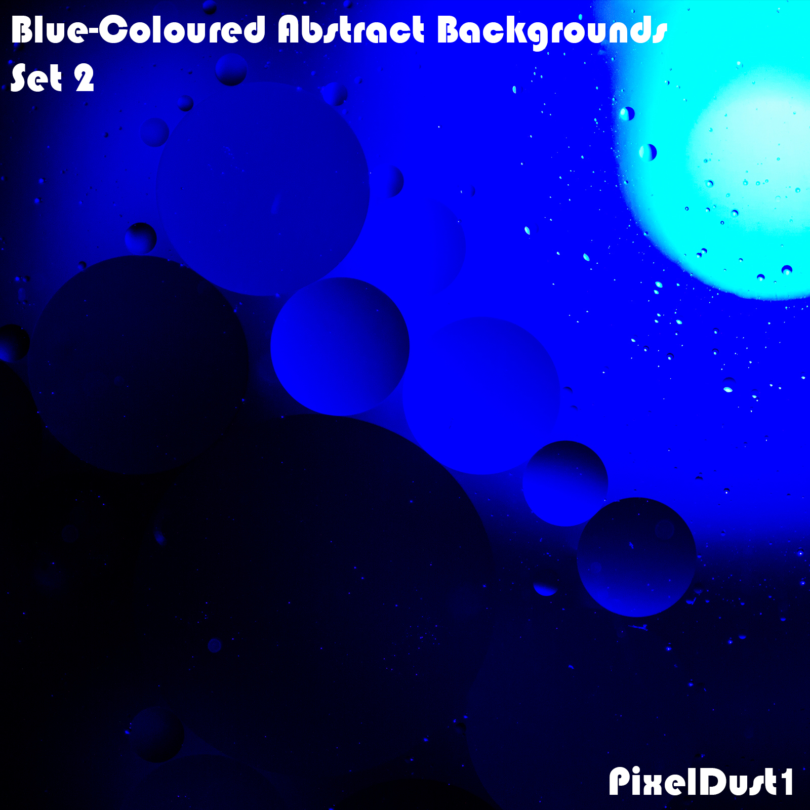 PixelDust1's Blue-Coloured Abstract Backgrounds - Set 2