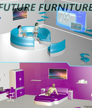 Future Furniture 3D Models apcgraficos