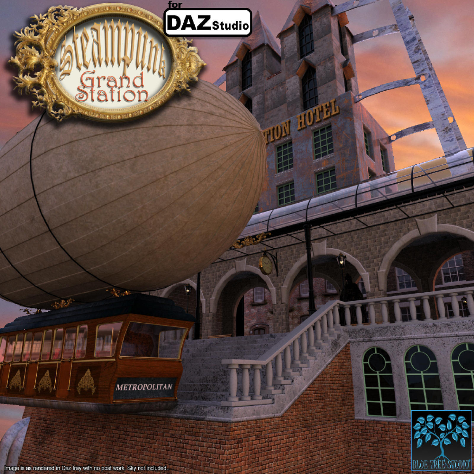 Steampunk Grand Station for Daz by BlueTreeStudio