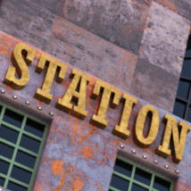 Steampunk Grand Station for Daz image 7