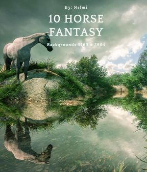 10 Horse Fantasy Backgrounds 2D Graphics Merchant Resources nelmi