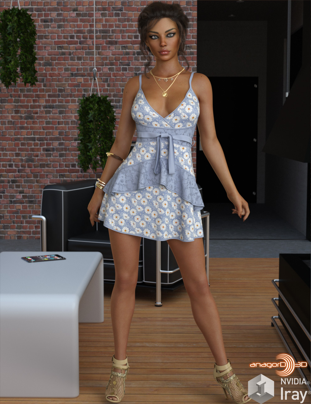 VERSUS - dForce Leah Candy Dress Outfit for Genesis 8 Female(s) by Anagord