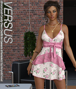 VERSUS - dForce Leah Candy Dress Outfit for Genesis 8 Female(s) 3D Figure Assets Anagord