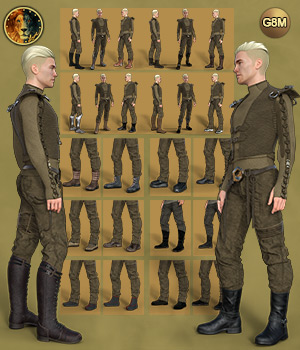 Fit other boots for Lyones Number 05 3D Figure Assets Lyone
