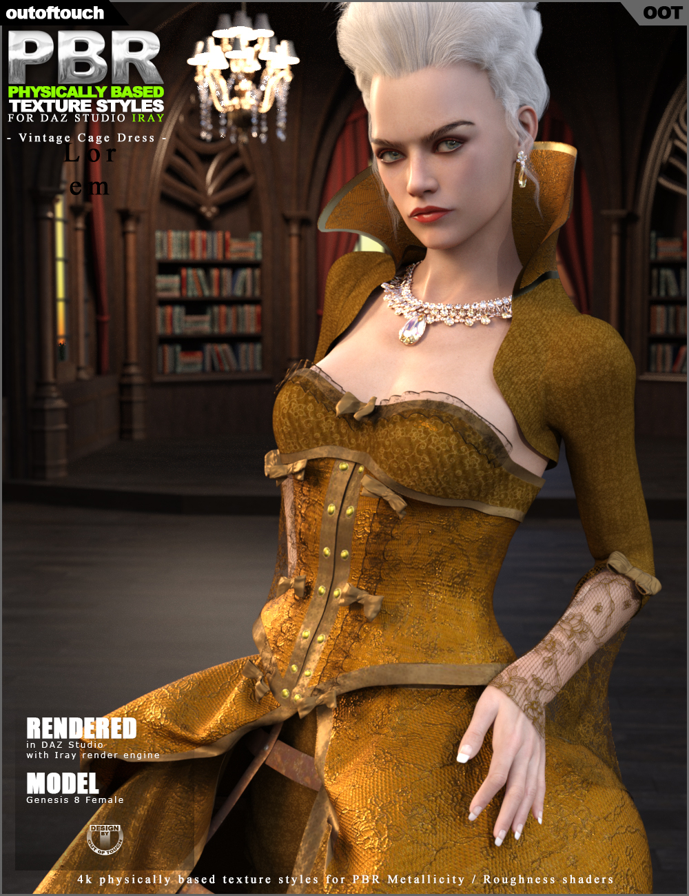 OOT PBR Texture Styles for Vintage Cage Dress