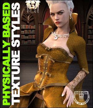 OOT PBR Texture Styles for Vintage Cage Dress 3D Figure Assets outoftouch