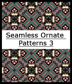 Seamless Ornate Patterns 3 2D Graphics Merchant Resources adarling97