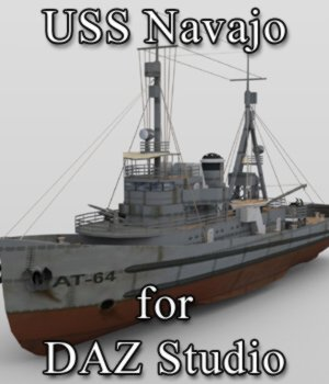USS Navajo for DAZ Studio 3D Models VanishingPoint