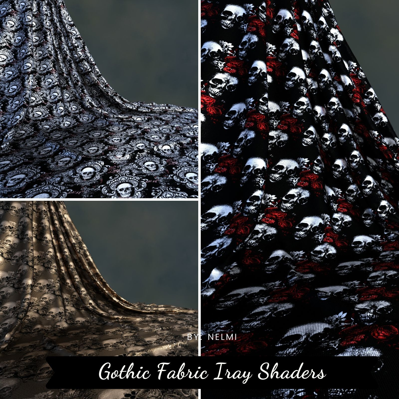 Gothic Fabric Iray Shaders by nelmi