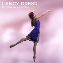 Lancy Dress for Genesis 8 Female image 1
