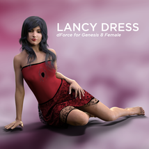 Lancy Dress for Genesis 8 Female image 2