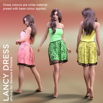 Lancy Dress for Genesis 8 Female image 3
