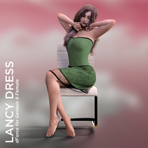 Lancy Dress for Genesis 8 Female image 4
