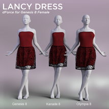 Lancy Dress for Genesis 8 Female image 5