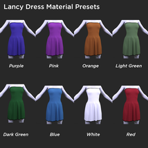 Lancy Dress for Genesis 8 Female image 6