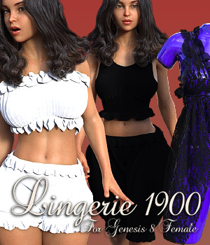 Lingerie 1900 for G8F 3D Figure Assets powerage