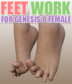 Feet Work for G8F 3D Figure Assets powerage