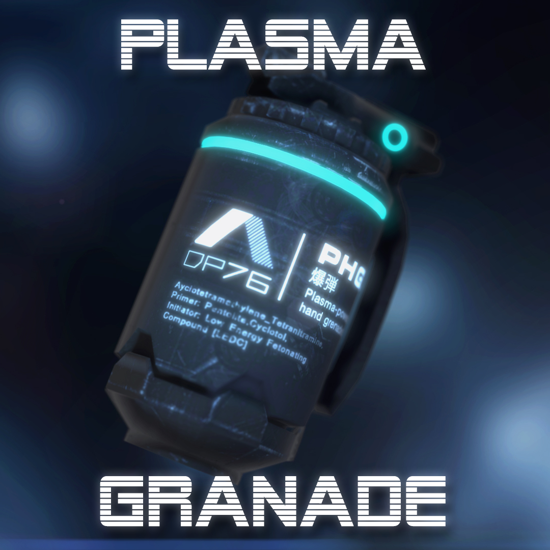 Plasma-Powered Hand Grenade - Extended License by TunnelVision