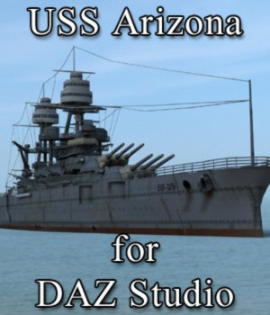 USS Arizona for DAZ Studio 3D Models VanishingPoint
