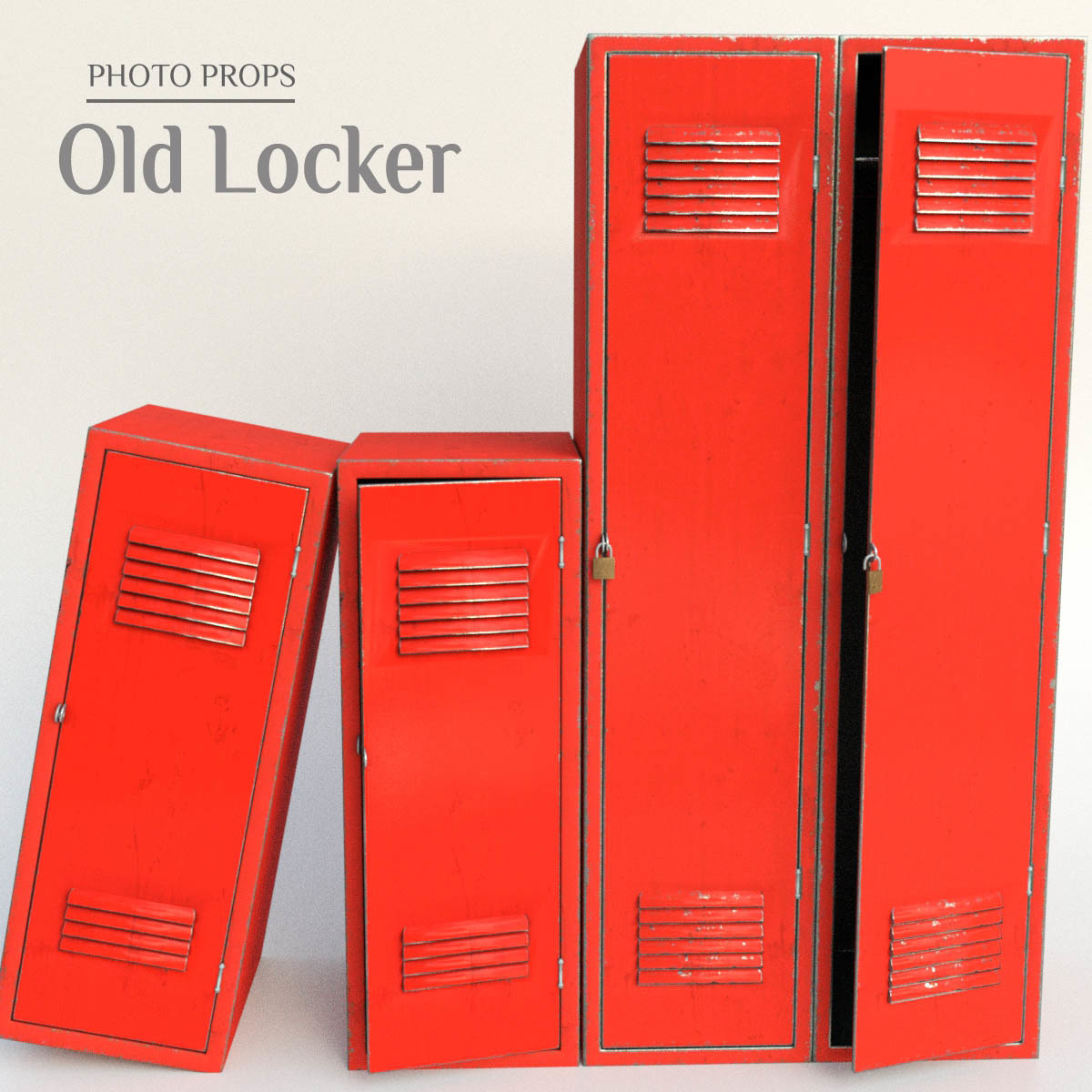Photo Props: Old Locker for Poser and DS - Extended License